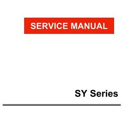 Yanmar SY Series Marine Engines Repair Service Manual