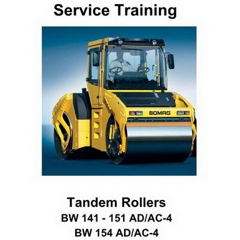 Bomag BW141-151AD/AC-4, BW154AD/AC-4 Tandem Rollers Service Training
