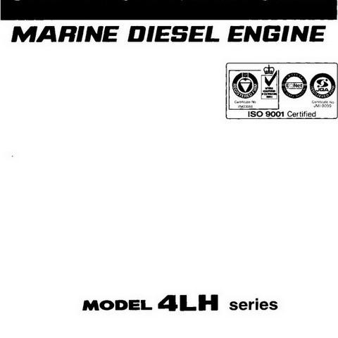 Yanmar 4LH Series Marine Diesel Engine Repair Service Manual
