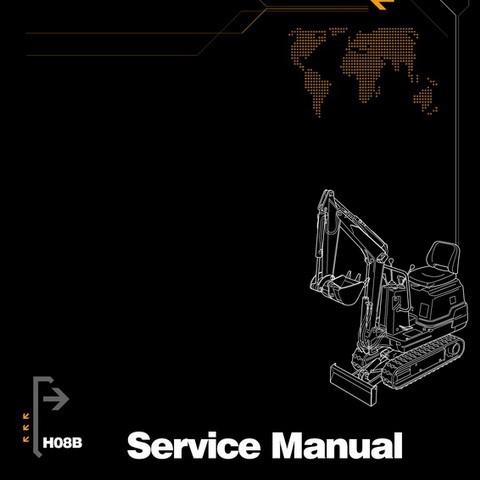 Hanix H08B Excavator Service, Repair and Parts Manual