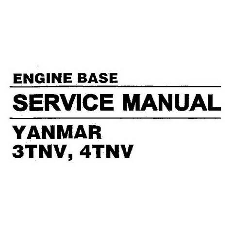 Hyundai 3TNV, 4TNV Yanmar Engine Base Repair Service Manual