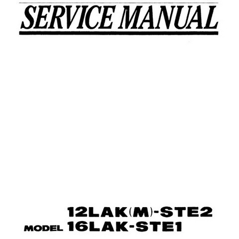 Yanmar 12LAK(M)-STE2 & 16LAK-STE1 Marine Diesel Engine Repair Service Manual