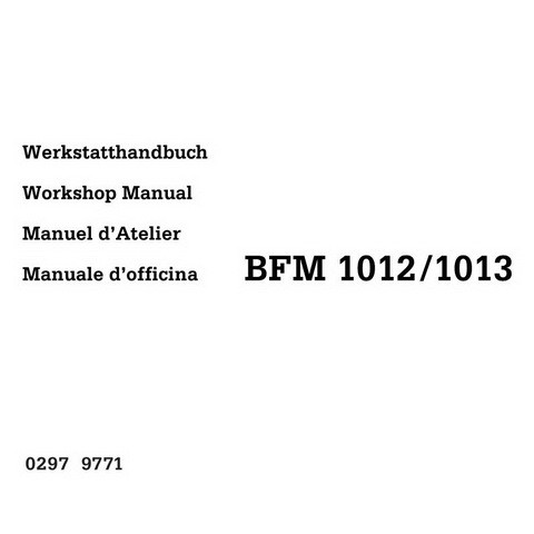 Deutz BFM 1012 / 1013 Engine Workshop Service Repair Manual