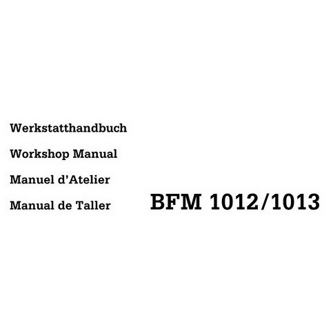 Deutz BFM 1012, 1013 Diesel Engine Workshop Service Repair Manual