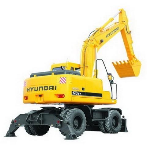 Hyundai Robex 170W-7 / R170W-7 Wheel Excavator Repair Service Manual