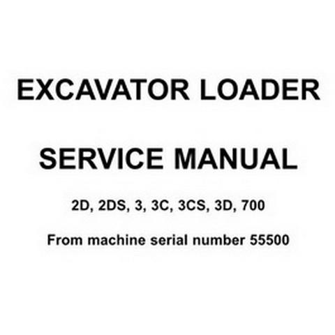JCB 2D, 2DS, 3, 3C, 3CS, 3D, 700 Excavator Loader Repair Service Manual