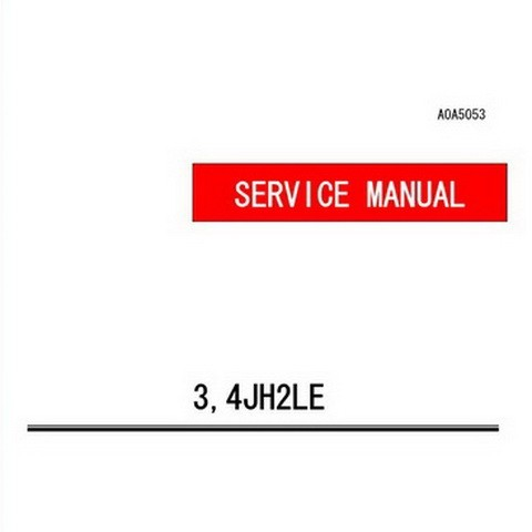 Yanmar 3,4JH2LE Marine Diesel Engine Repair Service Manual