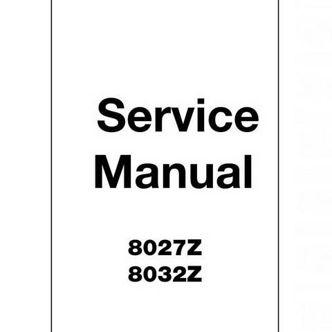 JCB 8027Z, 8032Z Mini Excavator Repair Service Manual