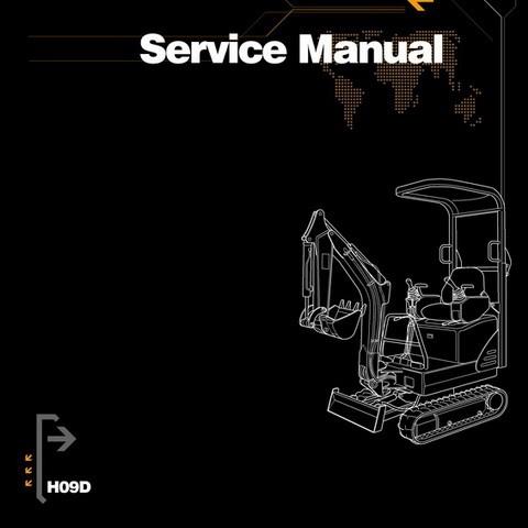Hanix H09D Excavator Service, Repair and Parts Manual