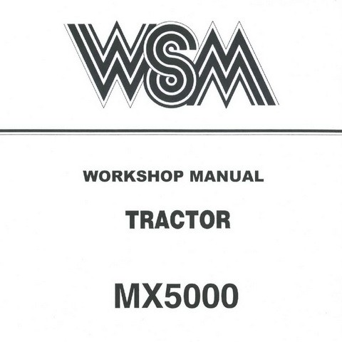 Kubota MX5000 Tractor Service Repair Workshop Manual