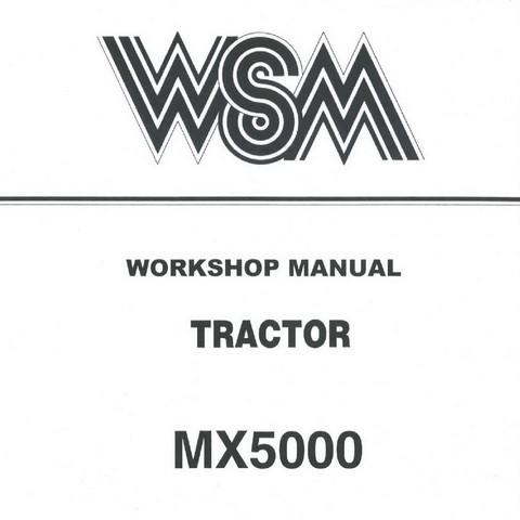 Kubota MX5000 Tractor Service Repair Workshop Manual