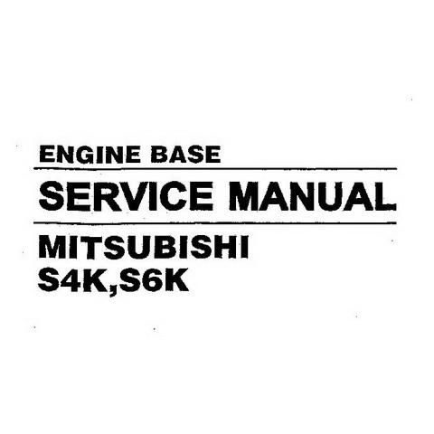 Hyundai S4K, S6K Mitsubishi Engine Base Repair Service Manual