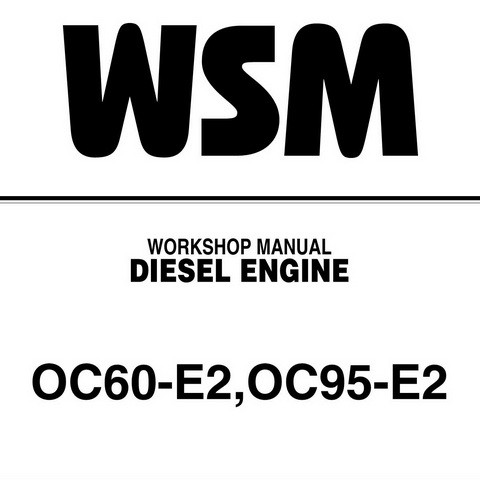 Kubota OC60-E2,OC95-E2 Diesel Engine Service Repair Workshop Manual