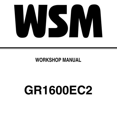 Kubota GR1600EC2 Tractor Service Repair Workshop Manual