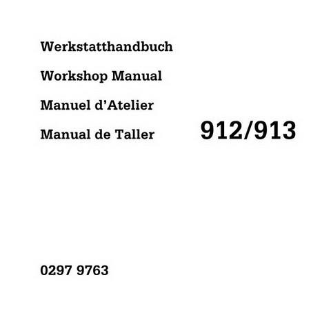 DEUTZ FL 912, B/FL 913/C Engine Service Repair Workshop Manual