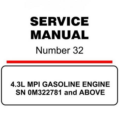 Mercury Marine MerCruiser Service Manual #32 GASOLINE ENGINE 4.3L MPI - SN 0M322781 and ABOVE