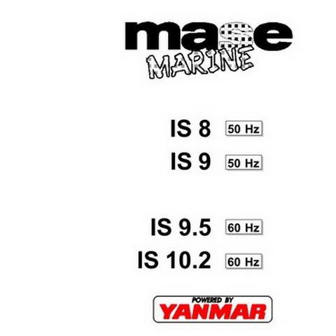 Yanmar Mase Marine IS8, IS9, IS9.5, IS10.2 Generators Workshop Repair Service Manual