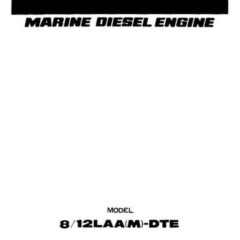 Yanmar 8/12LAA(M)-DTE Marine Diesel Engine Repair Service Manual