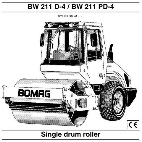 Bomag BW 211 D-4, BW 211 PD-4 Single Drum Roller Operation & Maintenance Instructions