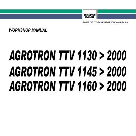 DEUTZ-FAHR AGROTRON TTV 1130-1145-1160 » 2000 Tractor Service Repair Workshop Manual