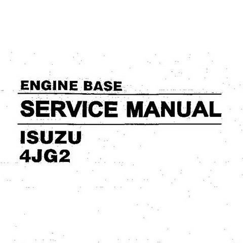 Hyundai 4JG2 Isuzu Engine Base Repair Service Manual