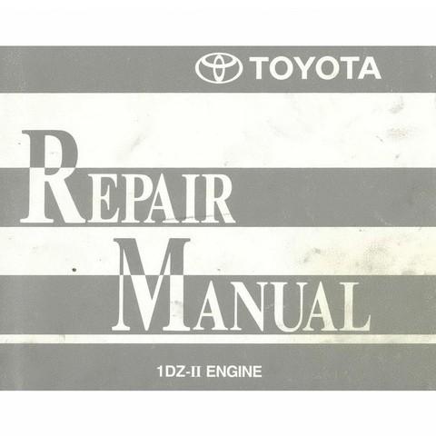 Toyota Forklift Trucks 1DZ-II Model Engine Service Repair Manual