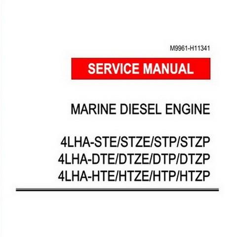 Yanmar 4LHA Series Marine Diesel Engine Repair Service Manual
