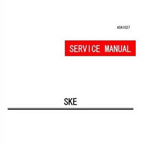 Yanmar SKE Diesel Engine Repair Service Manual