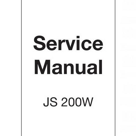 JCB JS200W Wheeled Excavator Repair Service Manual
