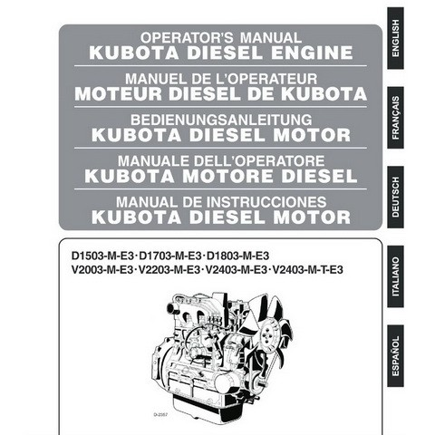 Kubota M-E3 Series Diesel Engine Operators Manual