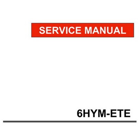 Yanmar 6HYM-ETE Marine Propulsion Engine Repair Service Manual