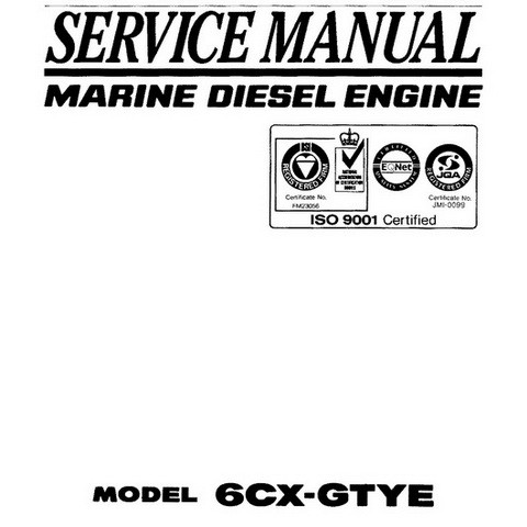 Yanmar 6CX-GTYE Marine Diesel Engine Repair Service Ma