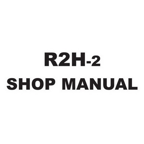 SAKAI R2H-2 Roller Service Repair Shop Manual