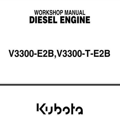 Kubota V3300-E2B, V3300-T-E2B Series Diesel Engine Wor