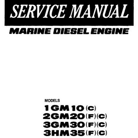 Yanmar 1GM10(C), 2GM20(F)(C), 3GM30(F)(C) & 3HM35(F)(C) Marine Diesel Engine Repair Service Manual