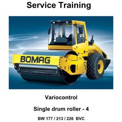 Bomag BW 177, 213, 226 BVC Variocontrol Single Drum Roller Series 4 Service Training