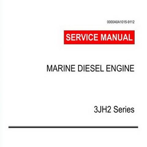 Yanmar 3JH2 Series Marine Diesel Engine Repair Service Manual