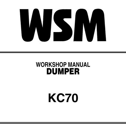 Kubota KC70 Dumper Service Repair Workshop Manual