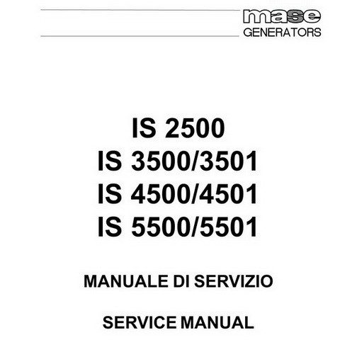 Yanmar Mase Marine IS 2500-5501 Generators Repair Service Manual