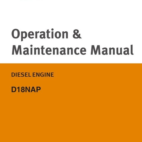Doosan D18NAP Electronically Controlled Industrial Diesel Engine Operation and Maintenance Manual