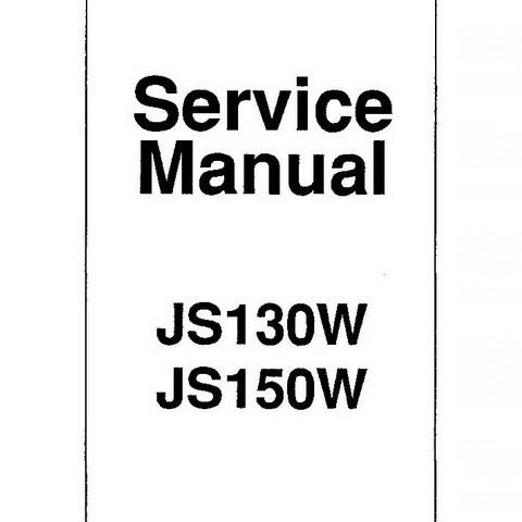 JCB JS130W, JS150W Wheeled Excavator Repair Service Manual