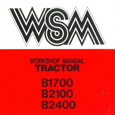 Kubota B1700, B2100 & B2400 Tractor Service Repair Workshop Manual