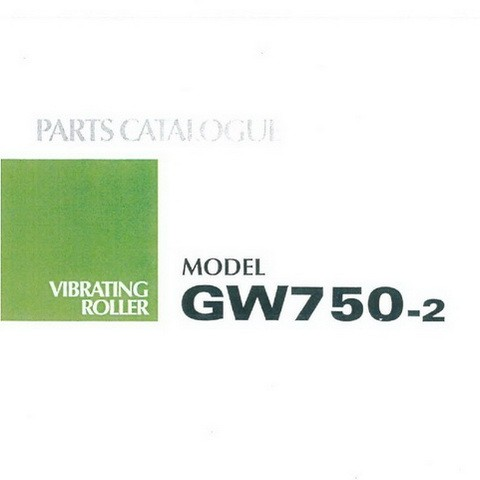 SAKAI GW750-2 Vibrating Roller Parts Catalogue