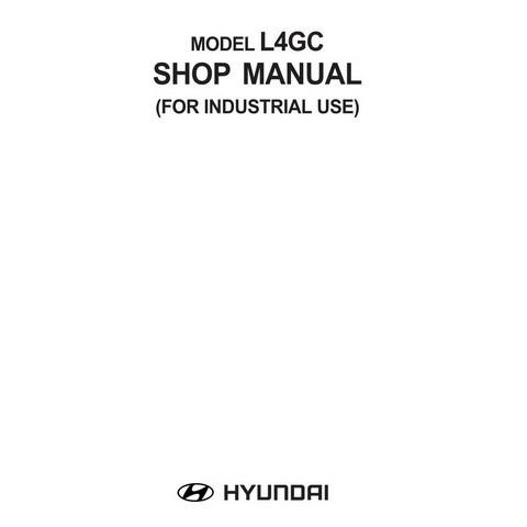 Hyundai Model L4GC Industrial Engine Service Repair Shop Manual