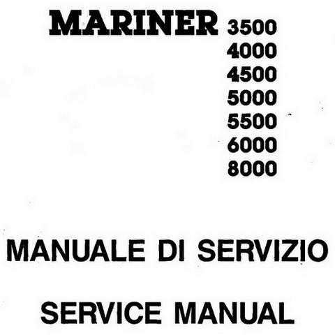 Yanmar Mase Marine MARINER 3500-8000 Generators Repair Service Manual