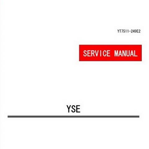 Yanmar YSE Series Marine Diesel Engine Repair Service Manual