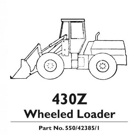 JCB 430Z Wheeled Loader Shovel Repair Service Manual