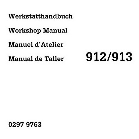 Deutz 912 / 913 Engine Workshop Service Repair Manual