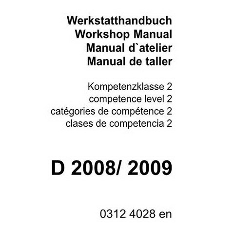 Deutz D 2008, D 2009 Engine Workshop Service Repair Manual
