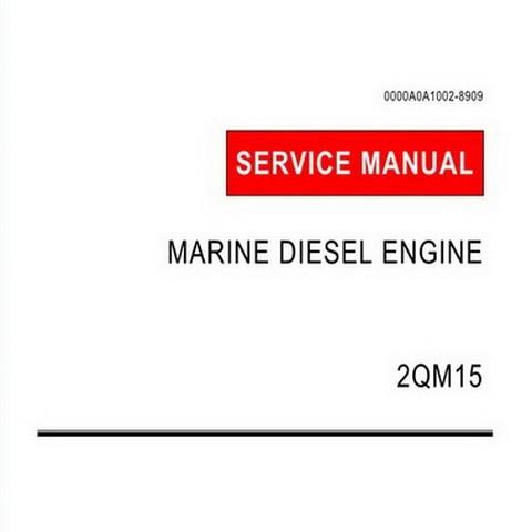 Yanmar 2QM15 Model Marine Diesel Engine Repair Service Manual